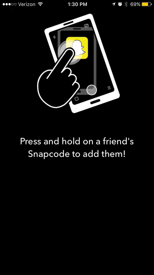 how to get to the snapchat profile screen