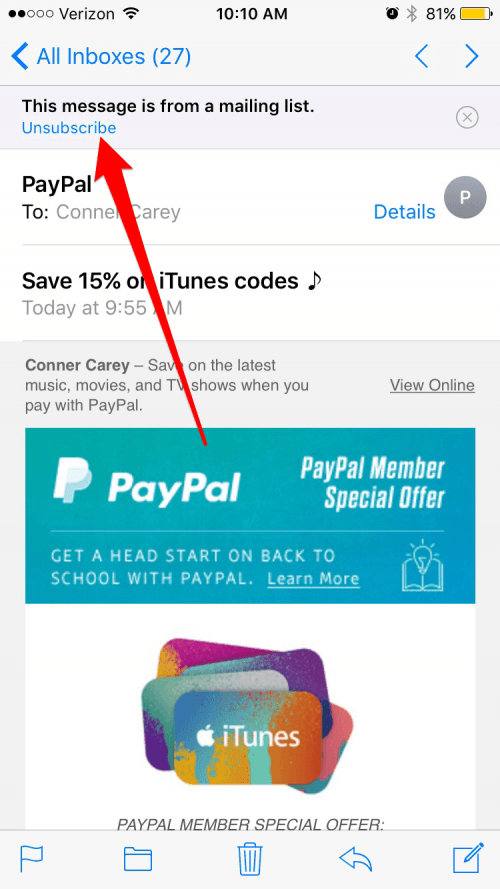 how to unsubscribe and delete emails