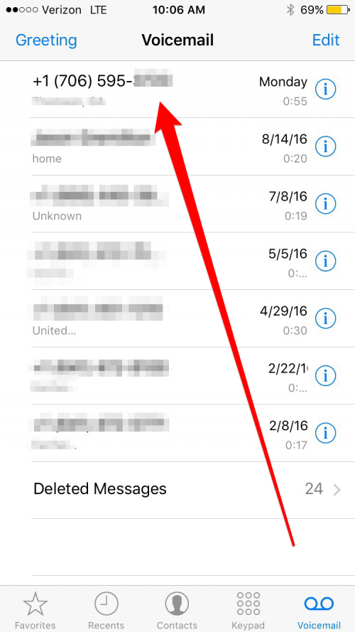 How to Use Voicemail Transcription in iOS 10