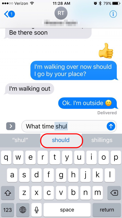 How to change autocorrect words on iphone 5s 14