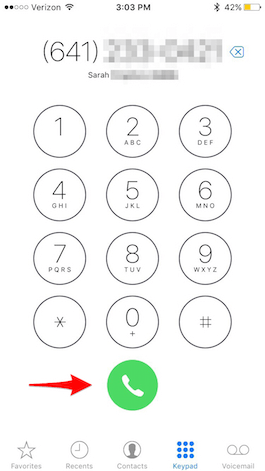 how to make a phone call with a different number
