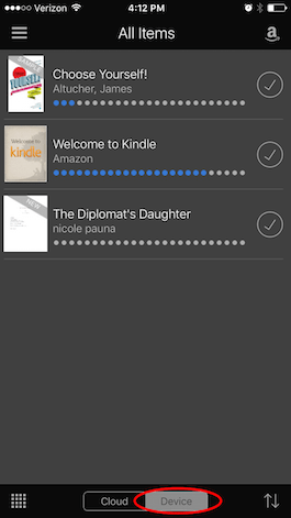 How do i download a kindle book onto my ipad