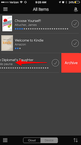 Permanently delete book from kindle fire