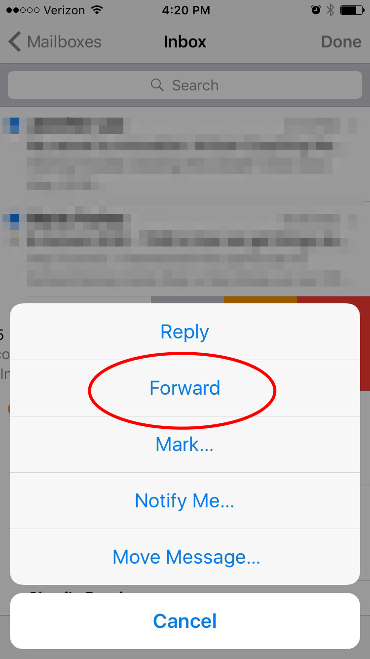 how to get emails forwarded to your phone