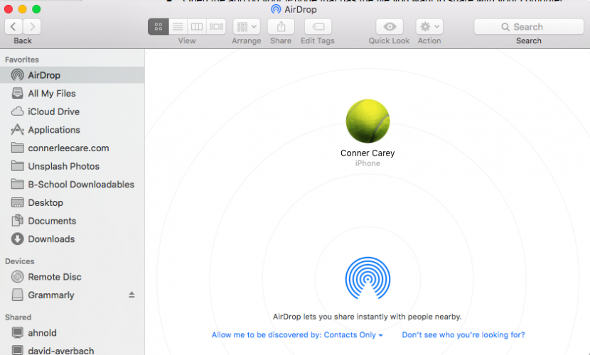 how to change your airdrop name