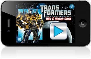 iStoryTime Unleashes Transformers Dark of the Moon Mix & Match Storybook App