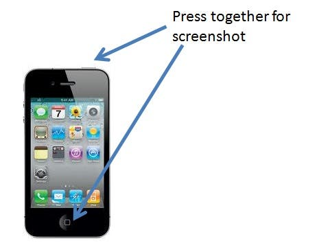 take screenshot on iphone how to take a screenshot image of an iphone or ipod 16248