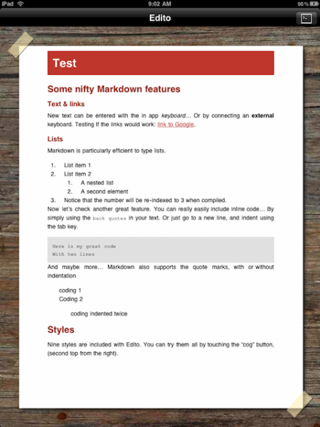 Edito's Swiss Style-applied Markdown Theme