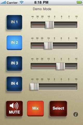 Micro Mixer App Screen