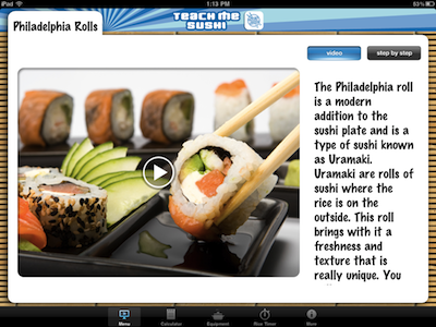 Teach Me Sushi iPad Edition