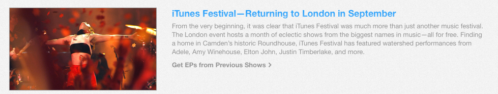Fixed iTunes Festival header