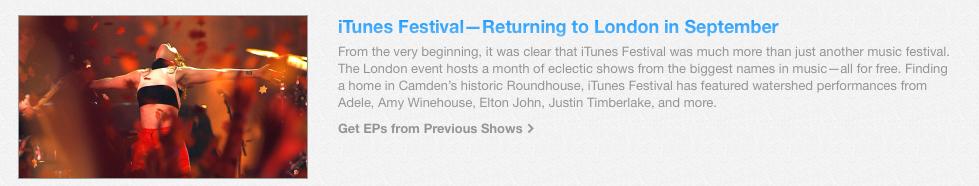 Fixed iTunes Festival header