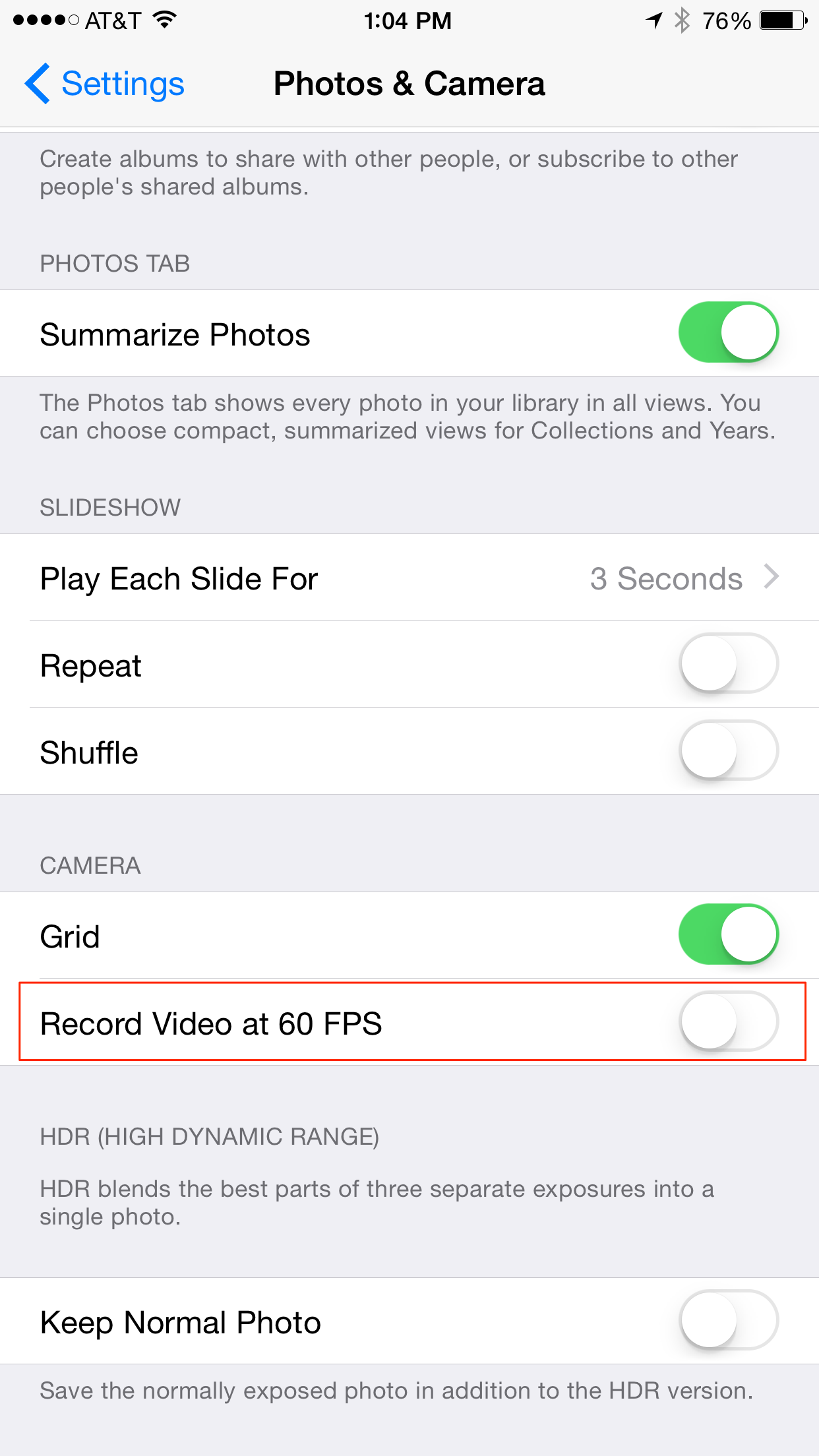 Tip of the Day: Recording Videos at 60 Frames Per Second with Your ...