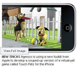 Touch Pets, a new iPhone app