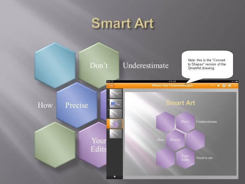 Slide 4: SmartArt as Shapes