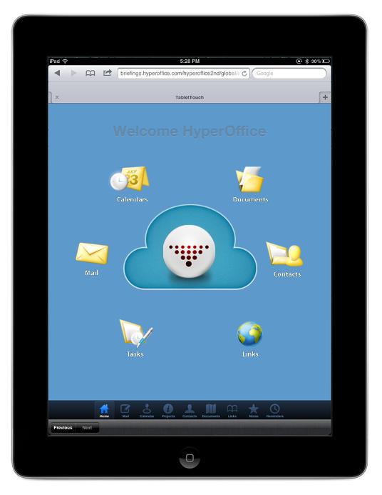 HyperOffice on iPad