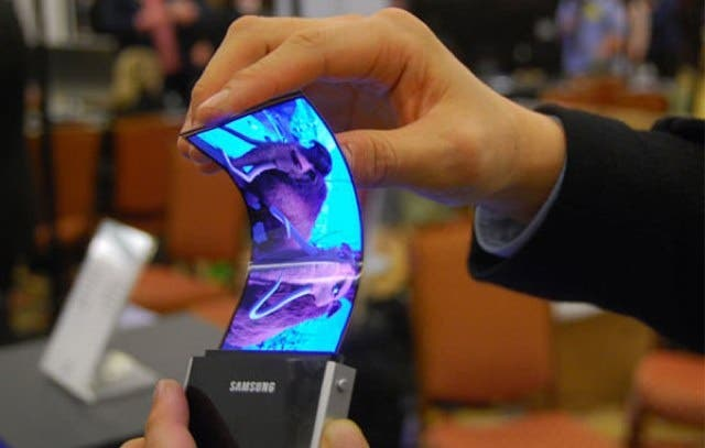 iPhone 5's flexible OLED display.