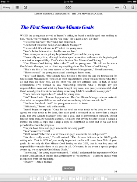 The One Minute Manager on IBooks