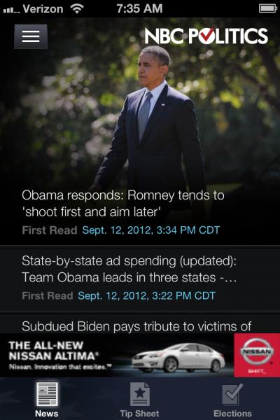 NBC Politics Opening Screen