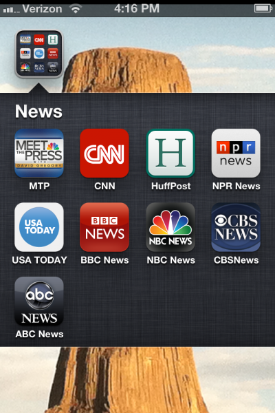 My iPhone News folder