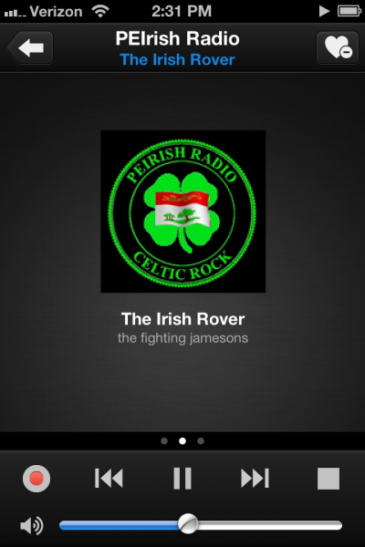 PEIrish Radio playing on TuneIn Radio
