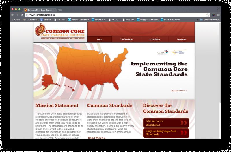 Common Core Initiative website
