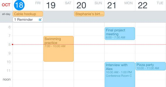 how to stop calendar events appearing multiple times on calendar