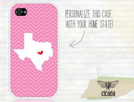 Custom iPhone Case - State Love