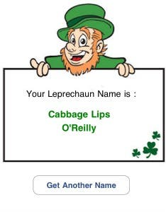 Leprechaun Name Generator App