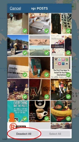 Delete photos from your Instagram photomap