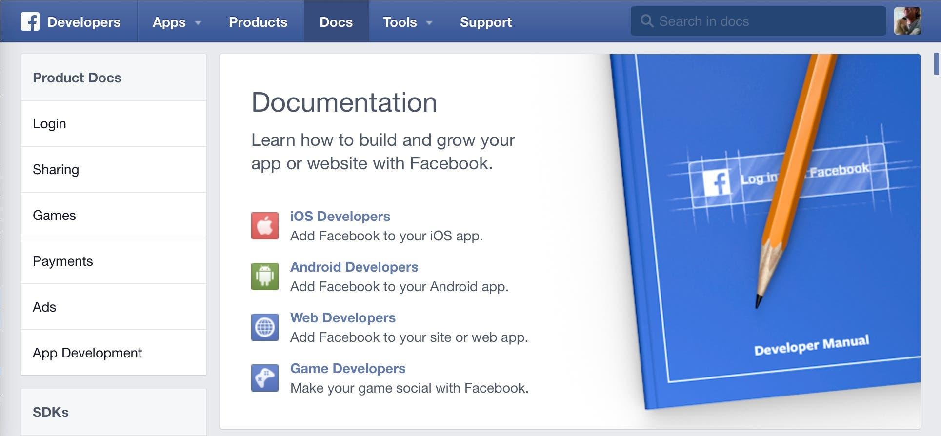 The Facebook App dashboard