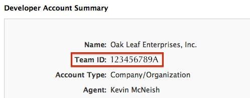 Team ID