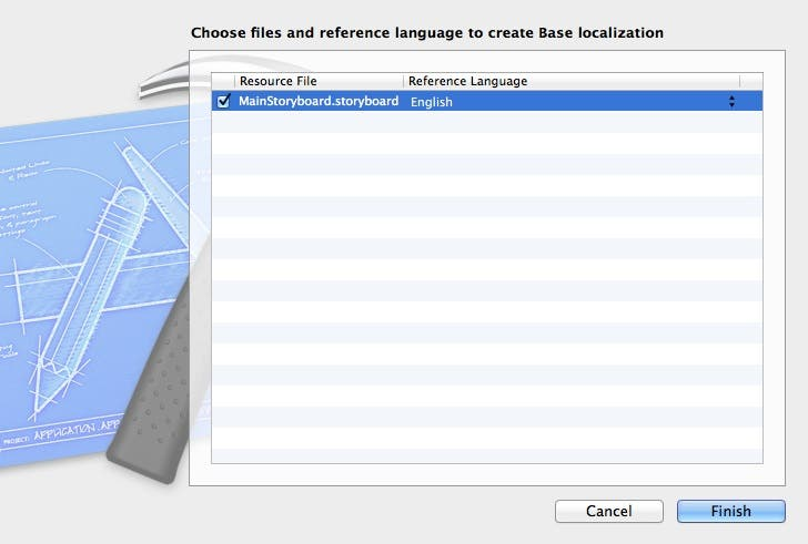 Choose files to create base