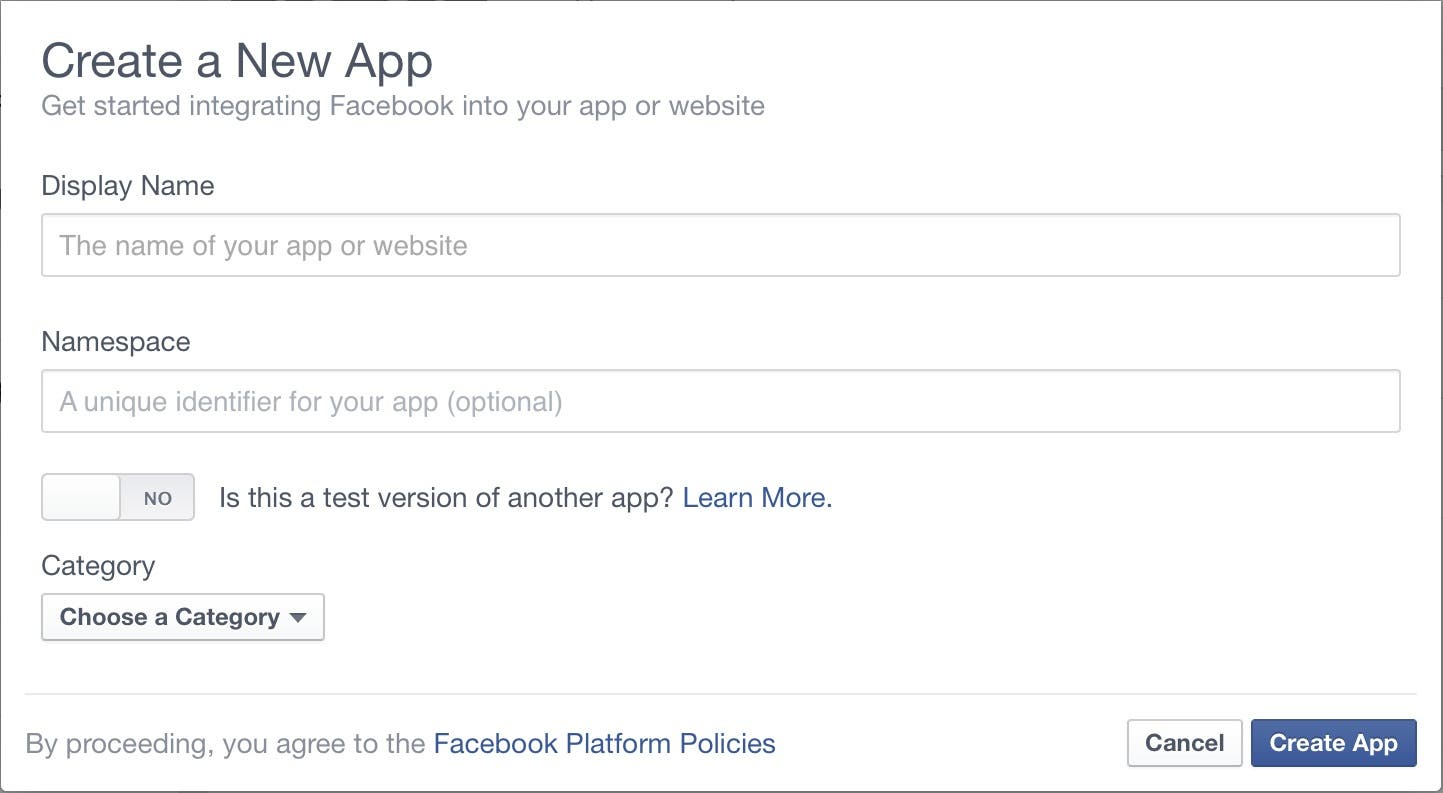 how to create app in facebook developer