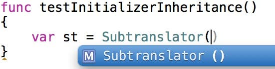 The default initializer