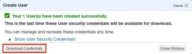 Download credentials