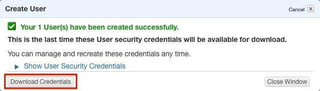 Download credentials