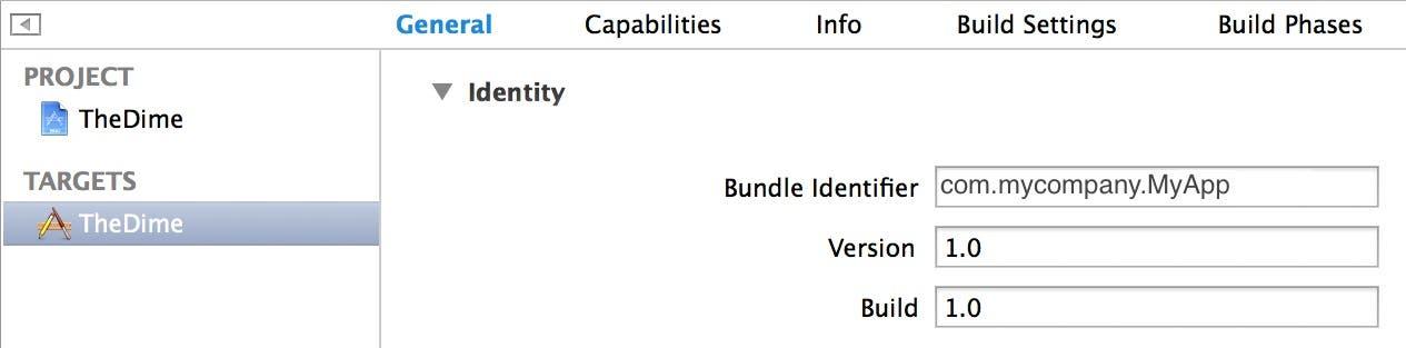 Bundle identifier