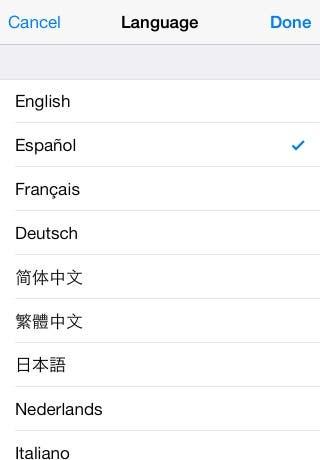 Select Spanish