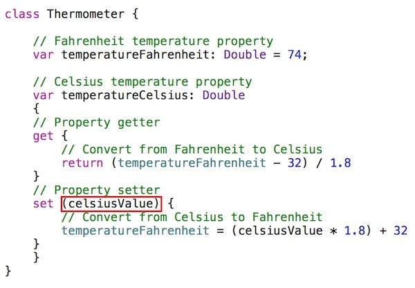 Named setter parameter