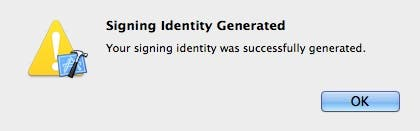 Signing identity generated