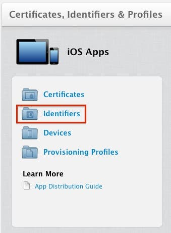 Select the Certificates link