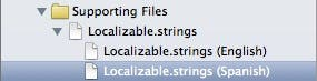 The spanish Localizable.strings file