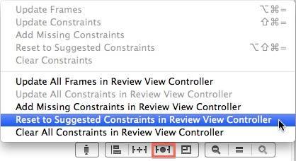 Reset constraints