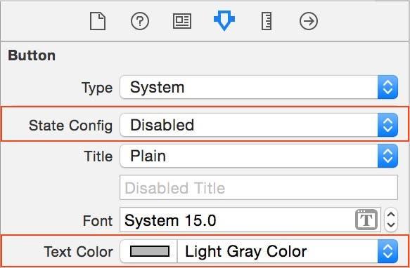 Set disabled text color
