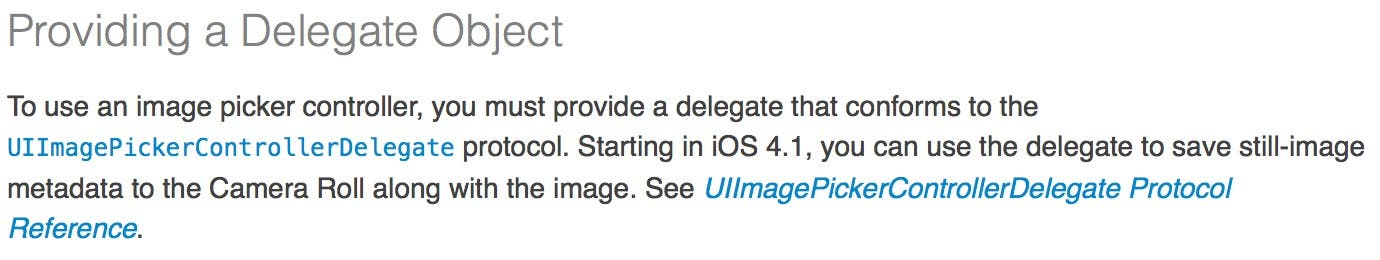 Provide a Delegate Object