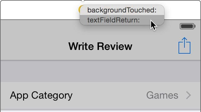 Select textFieldReturn