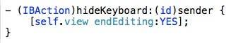 hideKeyboard code