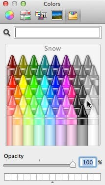 The color popup