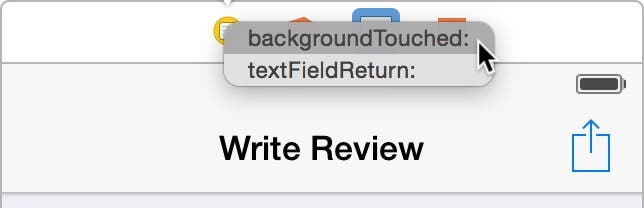 Select backgroundTouched